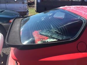 83 91 Porsche 944 951 Rear Hatch Glass With Spoiler Oem Used