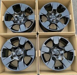 18 Dodge Ram 1500 Truck Gloss Black Wheels Rims Genuine Original Oem 2019 6lug