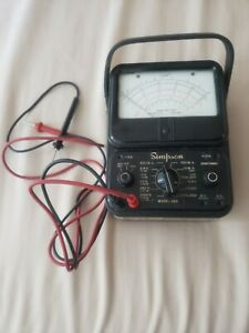 Simpson Electric 260 Analog Multimeter 1000v 10a 20m Ohms Tested And Works