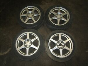 03 05 Mitsubishi Lancer Evolution 8 Gsr Oem Enkei Wheel 17x8 38 Evo8