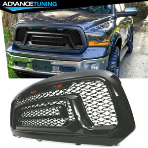 Fits 13 18 Dodge Ram 1500 Rebel Style Front Bumper Hood Upper Grille Gloss Black