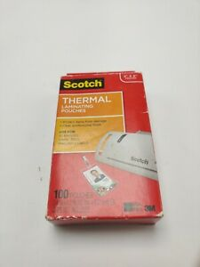 Scotch Thermal Laminating Id Badge Pouches 100 Pouches