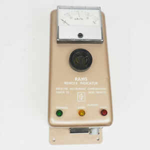 Vintage Eberline Ri 1 Rams Remote Radiation Indicator Monitor For Geiger Counter