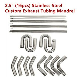 2 5 2 25 Universal Custom Exhaust Tubing Mandrel Bend Pipe Straight U bend Kit