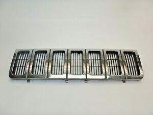Jeep Grand Cherokee Zj 96 98 Chrome Front Grille Grill