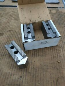 Us Shop Tools H3 8200p 3 piece Lathe Steel Soft Jaws 3mm X 60deg