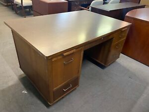 Old Style Desk By Jofco Office Furniture In Walnut Wood