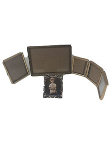 Vintage Picture Frames Lot Metal Gold And Silver Tone Intercraft Good Shape Used