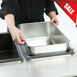 3 Pack 6 Deep Full Size Stainless Steel Steam Table Water Spillage Pan Buffet