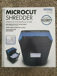 Royal 805mc 8 sheet Microcut Shredder 224 sheet Bin Capacity