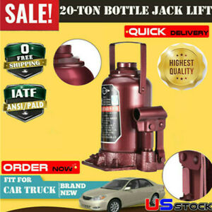 Low Profile Hydraulic Bottle Jack 20 Ton Automotive Shop Axle Jack Hoist Lift Us