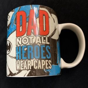 DC Comics Batman Coffee Mug Dad Fathers Day Saying Super Hero Hallmark Novelty