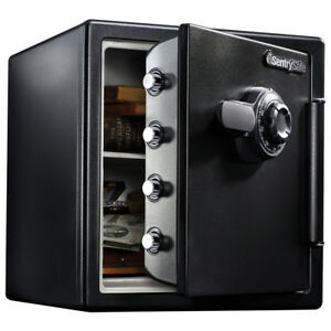Fireproof Safe And Waterproof Safe W dial Combination 1 23 Cu Ft Pry resistant