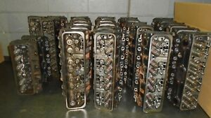 Sbc 350 Chevy 193 Cylinder Heads Lot 1 94 Center Bolt Valve Covers 26 Heads