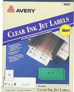 Avery Laser Labels 1 1 3 X 4 Clear 350 pack 8662