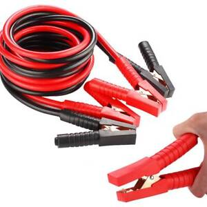 Red Black Booster Cables 0 Gauge Jumper Leads Heavy Duty Van Clamps Start 20ft