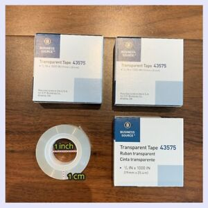 Lot 3 Clear Tape 3 4 Standard Transparent Package 1 Core Mail Ship Fast Free Us