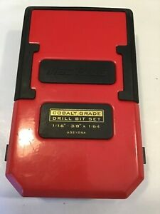 Mac Tools 6321dsa 21 Piece Short Cobalt Drill Bit Box usa free Ship box Only