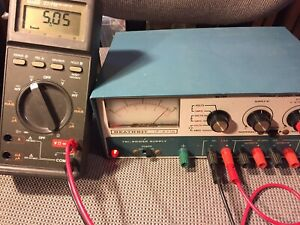 Heathkit Ip 2718 Tri Power Supply Variable Output Voltage Working Well