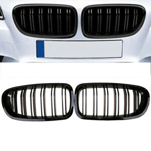 Gloss Black For 10 16 Bmw F10 F11 F18 5 Series M Sport Front Kidney Grille Grill