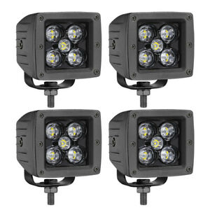 4x 3inch Cree Led Cube Pods Work Light Bar Spot Beam Driving Fog Offroad 4wd Suv