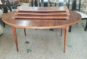 1960 S Mid Century Modern Danish Modern Style Rosewood Dining Table W 3 Leaves
