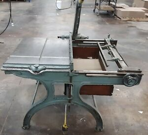 Jacques Board Shear 31 Bench Book Paper Shear Cutter Good Working Condition