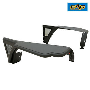 Eag Front Fenders Rocker Guard W Mesh Textured Tube Fit 87 96 Jeep Wrangler Yj
