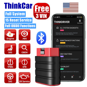 Thinkdriver Car Obd2 Scanner Full System Bluetooth Srs Tranmission Abs Scan Tool