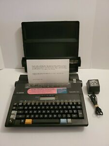 vintage 90 s Canon Typestar 110 Lightweight Portable Typewriter Great
