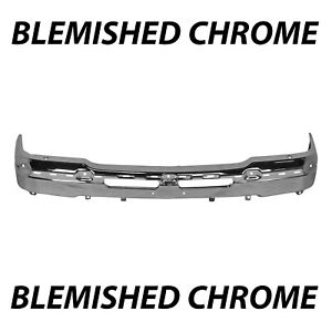 Blemished Chrome Front Bumper Face Bar For 2003 2007 Chevy Silverado Avalanche