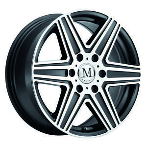 Mandrus Atlas Rims Wheels For Mercedes 17x7 5 6x130 Gunmetal W Mirror Cut Qty4