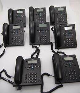 Lot Of 8 Cisco Cp6941 Ip Business Office Desk Ip Phone W Stand Handset