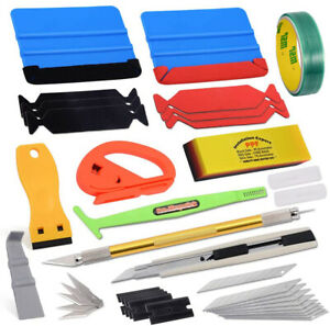 Pro Car Window Tint Install Kit Vinyl Wrapping Application Tools Avery Squeegee