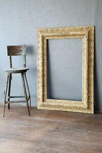 Antique Carved Wood Picture Frame Gold Arts Crafts Oil Painting 48 X 34 Large
