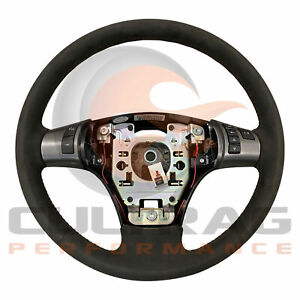 2005 2013 C6 Corvette Genuine Gm Suede Manual Steering Wheel Orange Stitching
