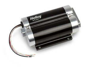 Holley 130 Gph Dominator In Line Fuel Pump Dual Inlet Compatible With Race Gas