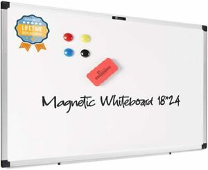 Magnetic Dry Erase Board 18 x24 magnet Board For Wall With Pen Tray whiteboard