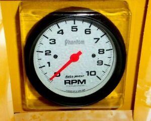 Autometer 5897 Phantom Series 3 3 8 Tachometer Gauge In dash 10k Rpm