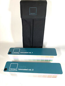 Pantone Tints Uncoated Guide gg1205 Volumes 1 2 With Black Carrying Case