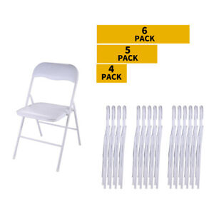 4 5 6 Pcs Plastic Folding Chairs Stackable Commercial Wedding Party Event Chair