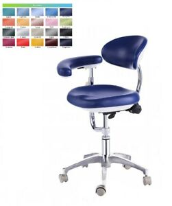 Dental Stool Assistant Stool Dental Assistant Chair Pu Leather Height Adjustable
