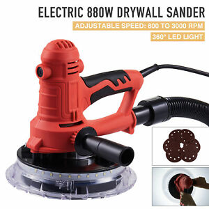 880w Electric Drywall Sander Commercial Sander W Variable Speed And Led Light