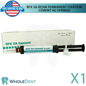 Dental Dual Cured Permanent Luting Resin Cement Automix Syringe Shades Composite
