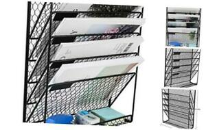 Pag Hanging File Holder Organizer Metal Chicken Wire Wall Mount Magazine Rack 6
