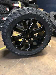 20x10 Ion 141 33 Mt Black Wheel And Tire Package Set 6x5 5 Chevy Silverado 1500