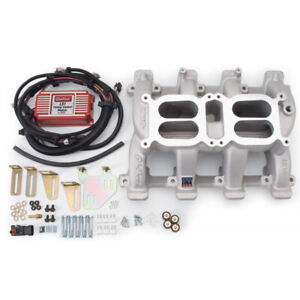 Edelbrock 7518 Chevrolet Gm Ls1 Performer Rpm 2 X4 Intake With Timing Control