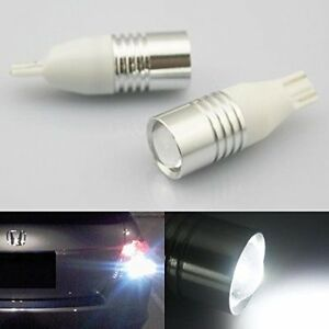 2 X White T15 Cree High Power Led Projector Reverse Backup Light 921