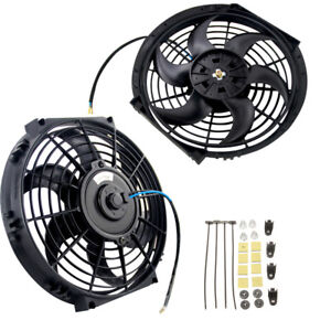 10 Covred Fan W mounting Pull push Radiator Cooling Slim Electirc Thermo Fan
