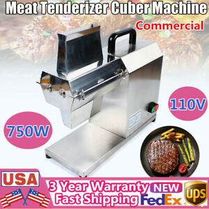750w Electric Meat Tenderizer Cuber Heavy Duty Pork Steak Flatten Machine 110v